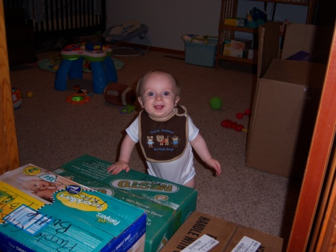 Micah Playing in new room