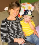 My mother-in-law (Mama Tiger) and Micah with his new Buzz Lightyear Fedora