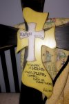 The amazing cross with Kasen's life verse, Phil. 4:8