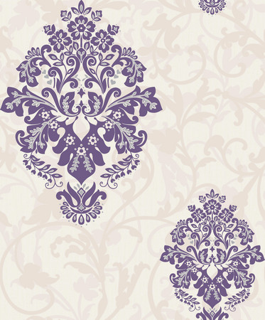 crown arabesque teal wallpaper