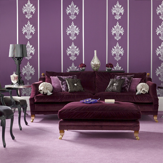 Pause for something pretty in purple thorn in my heart for Purple living room wallpaper