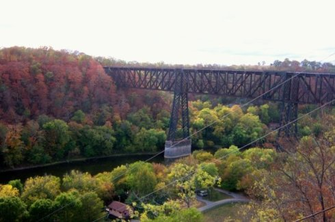 Fall at Highbridge in KY